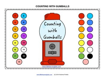 Little Learning Labs Gumball Machine Theme Counting Activi