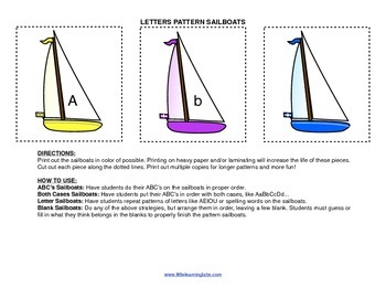 Little Learning Labs Primary Prek Pattern Sailboats - Lett