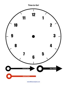 Little Learning Labs Primary Telling Time Printable Clocks Set