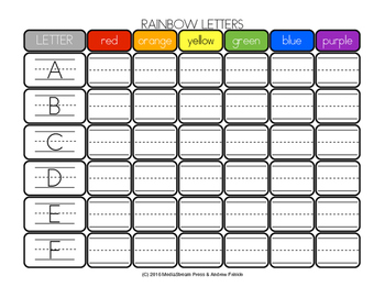 Little Learning Labs - Rainbow Letters Handwriting Activity