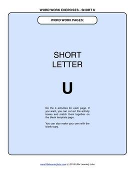 Little Learning Labs - Short Letter U Word Work