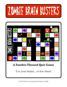 Little Learning Labs - Zombie Brain Busters - Board Game -