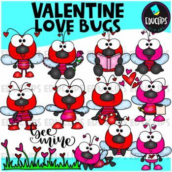 Little Love Bugs Clip Art Bundle {Educlips Clipart}