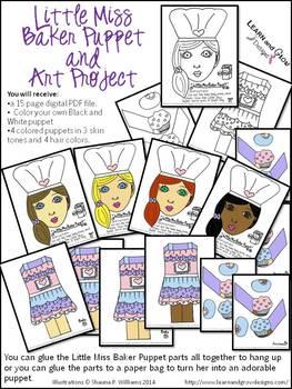 Little Miss Baker Puppet Art Project