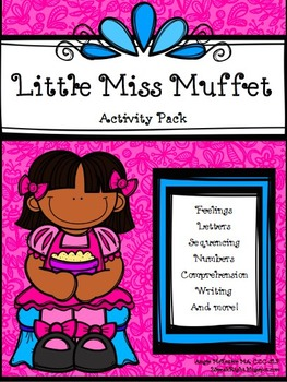Little Miss Muffet Activity Pack