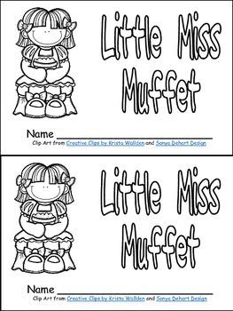 Little Miss Muffet Book, Poster, & MORE - Preschool Kinder