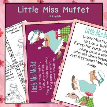 Little Miss Muffet Nursery Rhyme Pack US