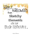 Little Monster Halloween Coloring Pages