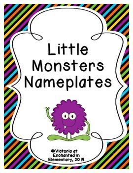 Little Monsters Nameplates