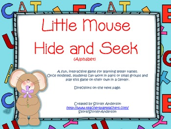 Little Mouse Hide and Seek- Alphabet
