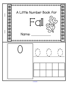 Little Number Book for Fall  0-10