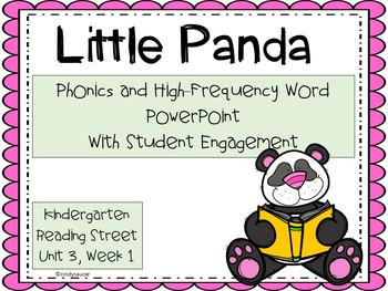 Little Panda, PowerPoint, Kindergarten, Unit 3, Week 1
