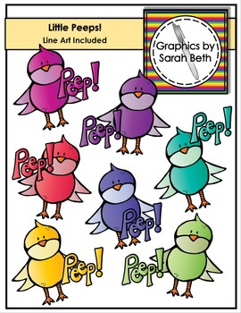 Little Peeps! - Easter Clipart - Chick Clipart Graphics