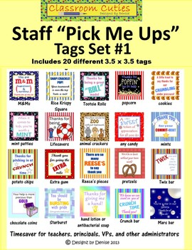 Little Pick Me Ups - Tags for Staff Gifts