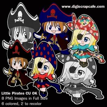 Little Pirates Clip Art