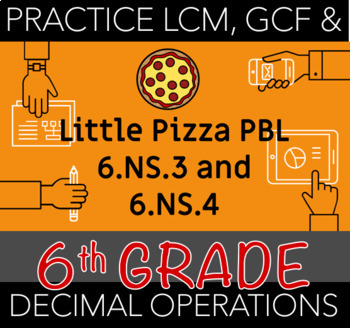 Little Pizza PBL 6.NS.3 and 6.NS.4