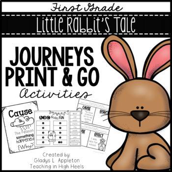 Little Rabbit's Tale First Grade Journeys Print and Go Activities