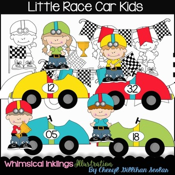 Little Race Car Kids RESELLERS-DESIGNERS LIMITED SET