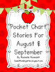 Little Reader Book & Pocket Chart Bundle for August and September