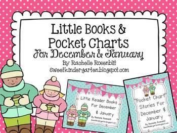 Little Reader Book & Pocket Chart Bundle for December and January