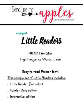 Little Reader FREEBIE - I See Colors