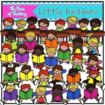 Little Readers Clipart Set