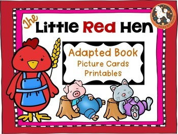 Little Red Hen Adapted Book for Autistic, Non-Verbal, Spec