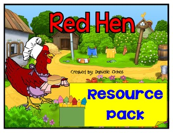 """Little Red Hen resource pack with short """"e"""" game"""