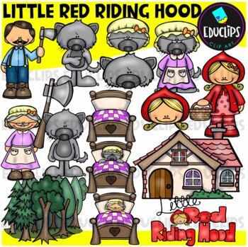 Little Red Riding Hood Clip Art Bundle {Educlips Clipart}