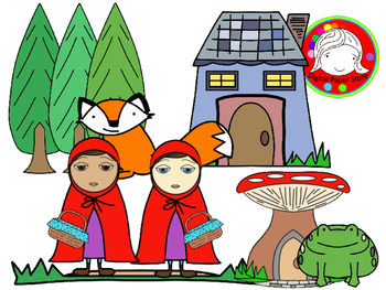Little Red Fairy Tale Clipart Set (Personal & Commercial Use)