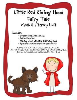Little Red Riding Hood Common Core Literacy & Math Mini Unit