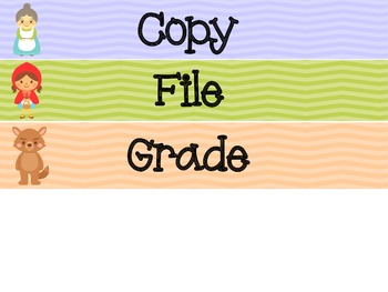 Little Red Riding Hood Copy/File/Grade Drawer Labels