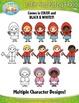 Little Red Riding Hood Fairy Tale Clip Art Set — Over 55 G