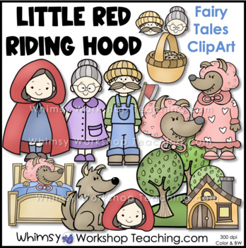 Little Red Riding Hood Fairy Tale Clip Art - Whimsy Worksh