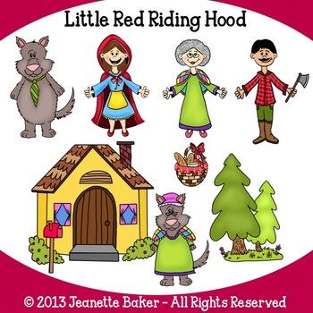 Little Red Riding Hood Inspired Clip Art by Jeanette Baker