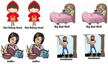 Little Red Riding Hood Matching Game
