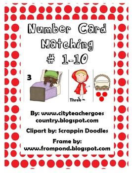 Little Red Riding Hood Number Matching (#1-10 written 3 ways)