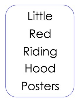 Little Red Riding Hood Posters