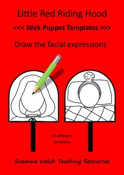 Little Red Riding Hood - Stick puppet templates
