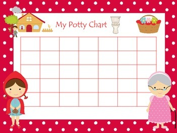 Little Red Riding Hood themed Daycare Hygeine Potty Chart
