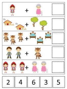 Little Red Riding Hood themed Math Addition preschool prin