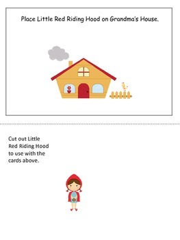 Little Red Riding Hood themed Positional Cards preschool l