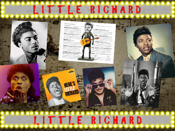 Little Richard: 25 slides with text, hyperlinks, primary s