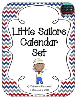 Little Sailors Calendar Numbers, Months and Days