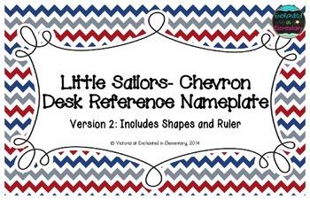 Little Sailors Chevron Desk Reference Nameplates Version 2
