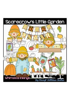 Little Scarecrows Garden Clipart Collection