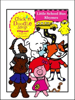 Little School Bus Rhymes Clipart  {Chick'n Doodle Soup}