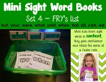 Sight Word Books - Set 4