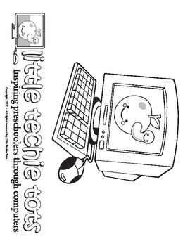 Little Techie Tot Coloring Page