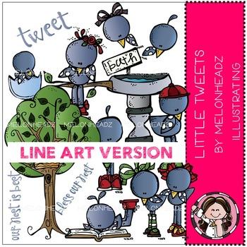 Little Tweets by Melonheadz LINE ART
